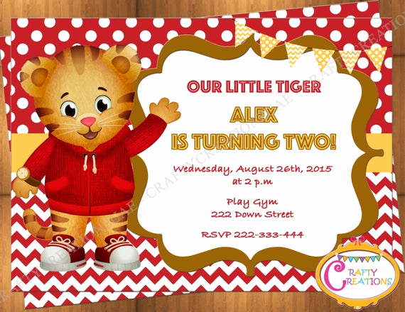 Daniel Tiger Birthday Invitation Best Of Daniel Tiger Invitation Daniel Tiger Birthday Invitation