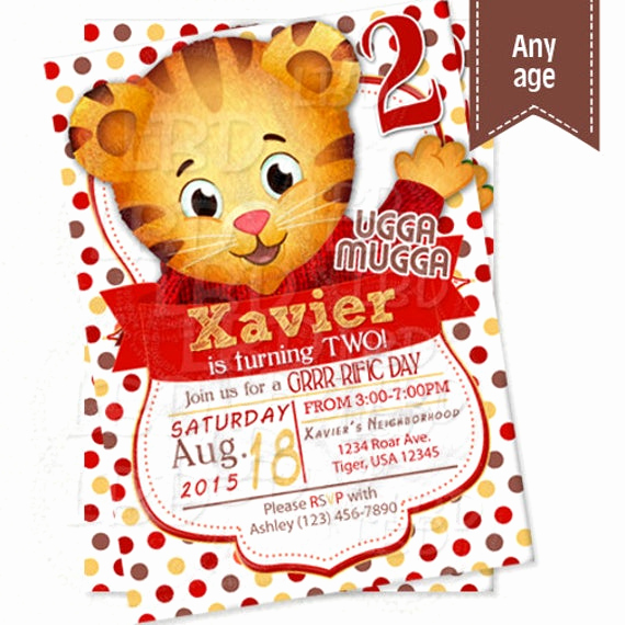 Daniel Tiger Birthday Invitation Best Of Daniel Tiger Invitation Daniel Tiger Birthday Invitations