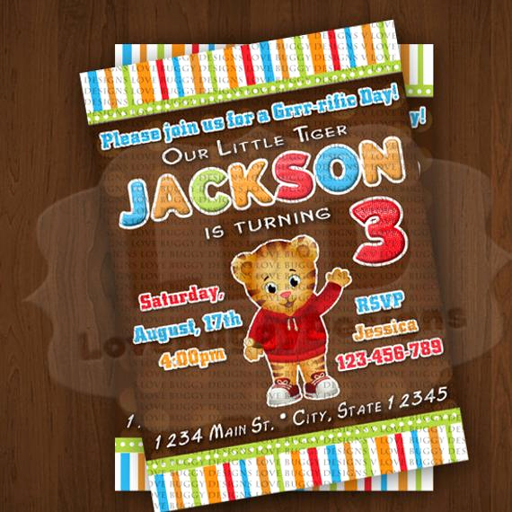 Daniel Tiger Birthday Invitation Best Of Daniel Tiger Invitation New Daniel Tiger by Lovebuggydesigns