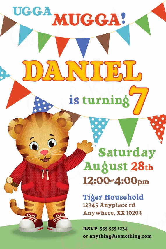 Daniel Tiger Birthday Invitation Best Of Daniel Tiger theme Birthday Invitation Diy by Ciciandbobos