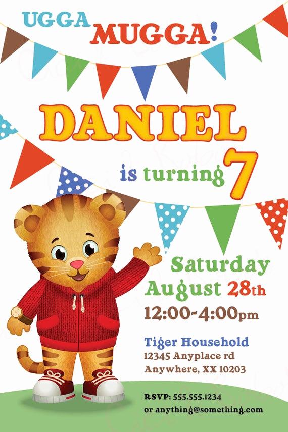 Daniel Tiger Birthday Invitation Best Of Daniel Tiger theme Birthday Invitation Diy by Ciciandbobos
