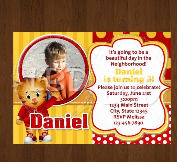 Daniel Tiger Birthday Invitation Elegant Daniel Tiger Invitation New Daniel Tiger by Lovebuggydesigns