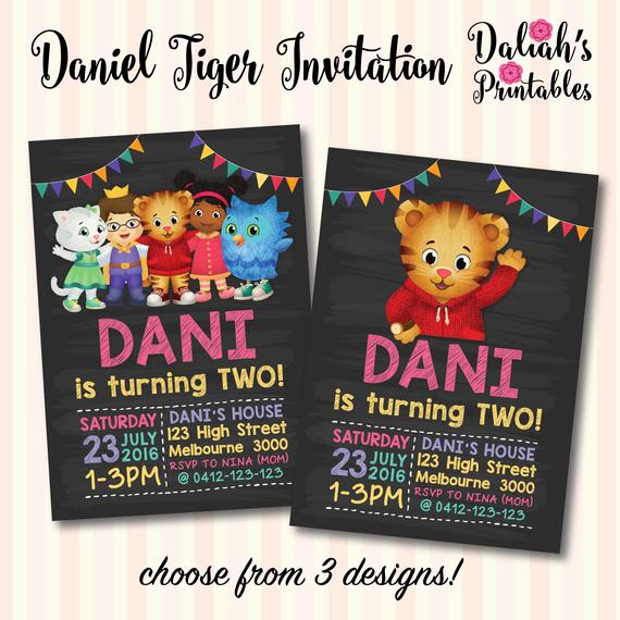 Daniel Tiger Birthday Invitation Fresh Daniel Tiger Neighbourhood Invitation Daniel by