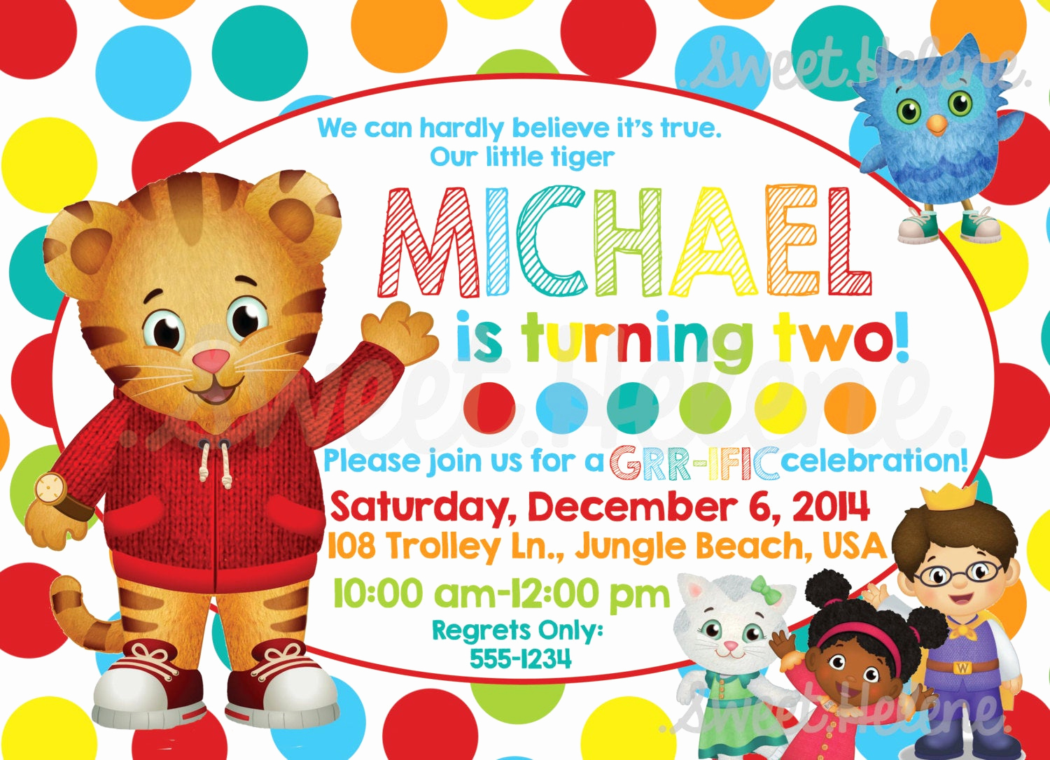 Daniel Tiger Birthday Invitation Lovely Daniel Tiger Birthday Invitation Daniel Tiger S