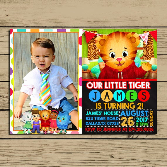Daniel Tiger Birthday Invitation Lovely Daniel Tiger Invitation Daniel Tiger Birthday Party Invite