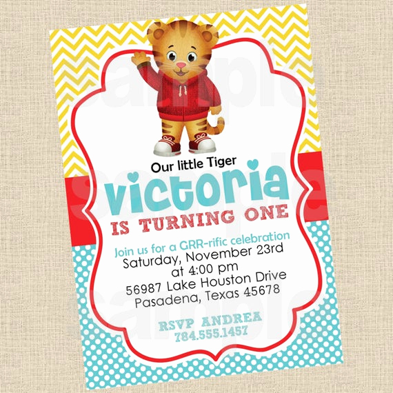 Daniel Tiger Birthday Invitation Lovely Partiesinbloom On Etsy
