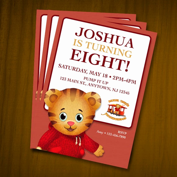 Daniel Tiger Birthday Invitation Luxury Daniel Tiger Birthday Invitations Digital File You Print