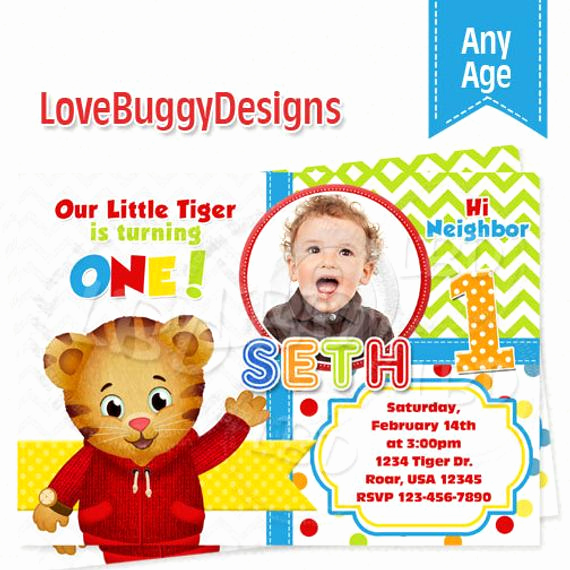 Daniel Tiger Birthday Invitation Luxury Daniel Tiger Invitation Daniel Tiger Birthday
