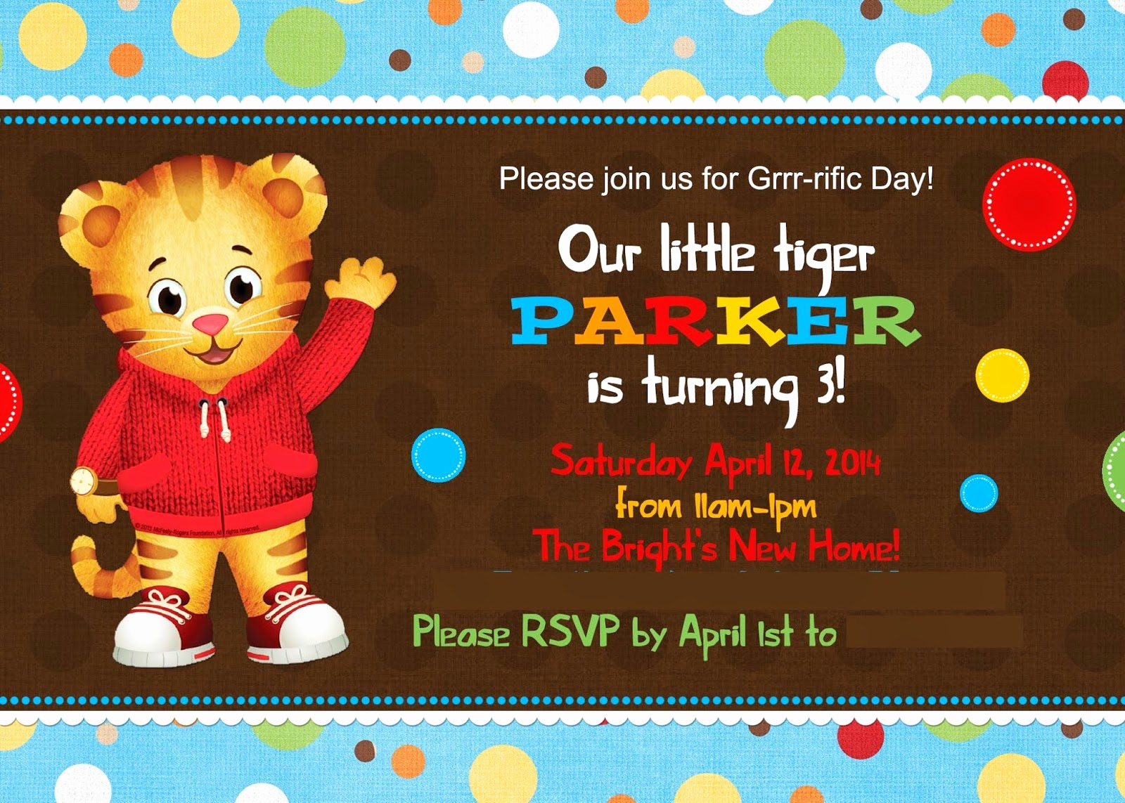 Daniel Tiger Birthday Invitation Luxury the Cherry top events Party Blog A Daniel Tiger S 3rd