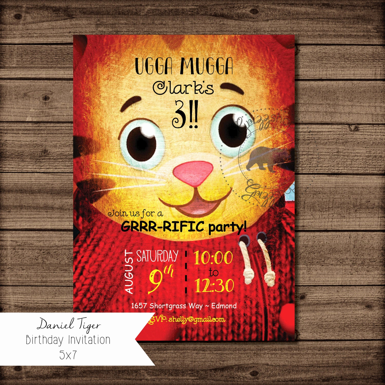 Daniel Tiger Birthday Invitation Unique Daniel Tiger Birthday Invitation