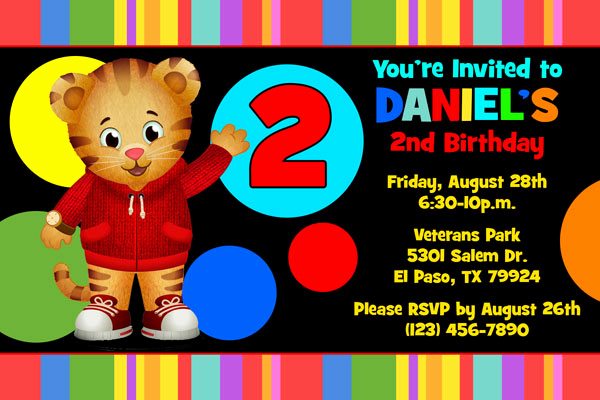 Daniel Tiger Birthday Invitation Unique Daniel Tiger Invitations General Prints