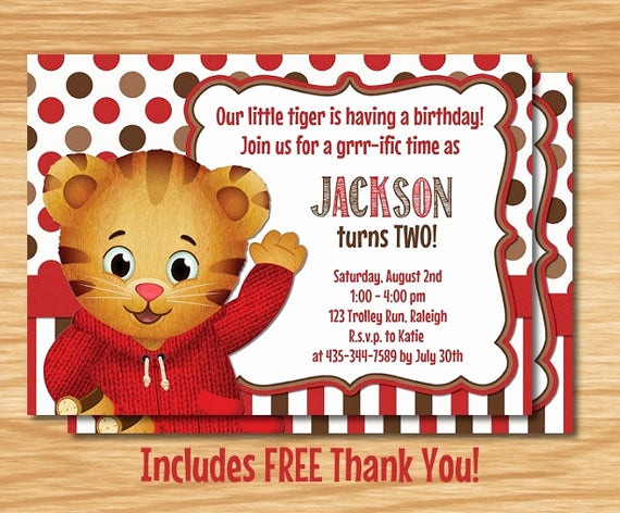 Daniel Tiger Birthday Invitation Unique Daniel Tiger S Neighborhood Birthday Invitation by
