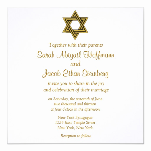 David Bridal Wedding Invitation Awesome Star Of David Wedding Invitations