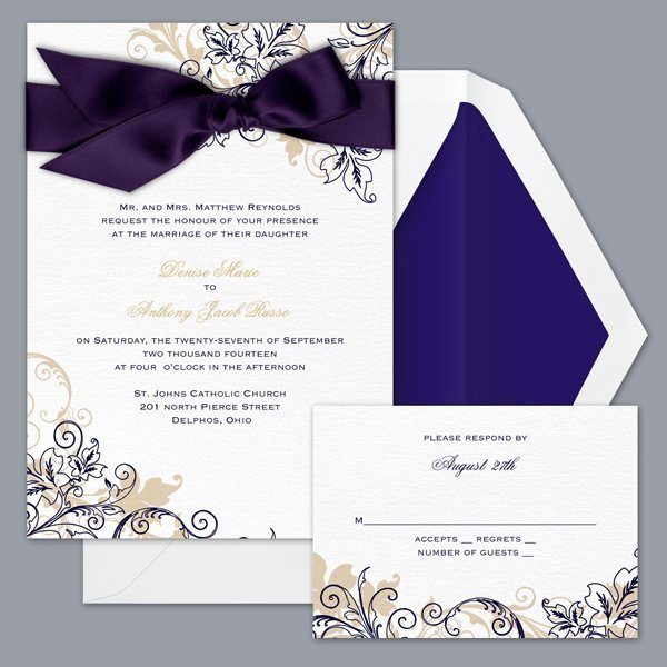 David Bridal Wedding Invitation Luxury Db51g3l Wedding Invitation
