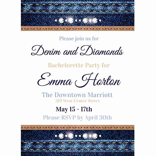 Denim and Diamonds Invitation Fresh Denim & Diamonds Invitations Stumps