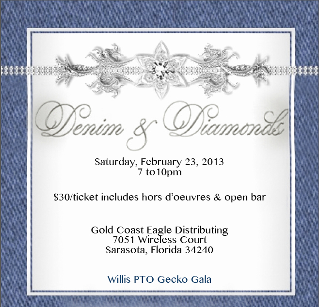 Denim and Diamonds Invitation Lovely 21 Of Diamonds Denim event Flyers Template