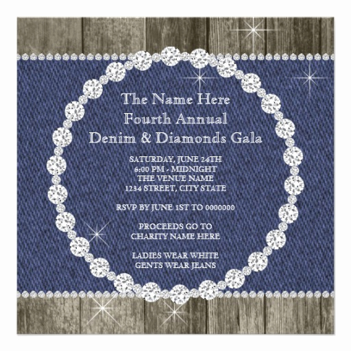 Denim and Diamonds Invitation Templates Elegant 69 Denim and Diamonds Invitations Denim and Diamonds