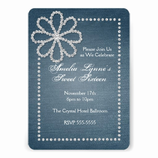 Denim and Diamonds Invitation Templates Fresh 83 Denim and Diamond Invitations Denim and Diamond