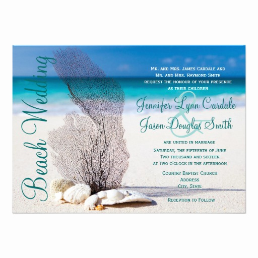 "Destination Wedding Invitation Ideas Awesome Beach Seashells Destination Wedding Invitations 4 5"" X 6"