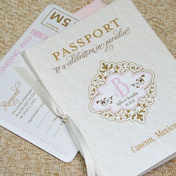Destination Wedding Invitation Ideas Best Of 1000 Ideas About Passport Invitations On Pinterest