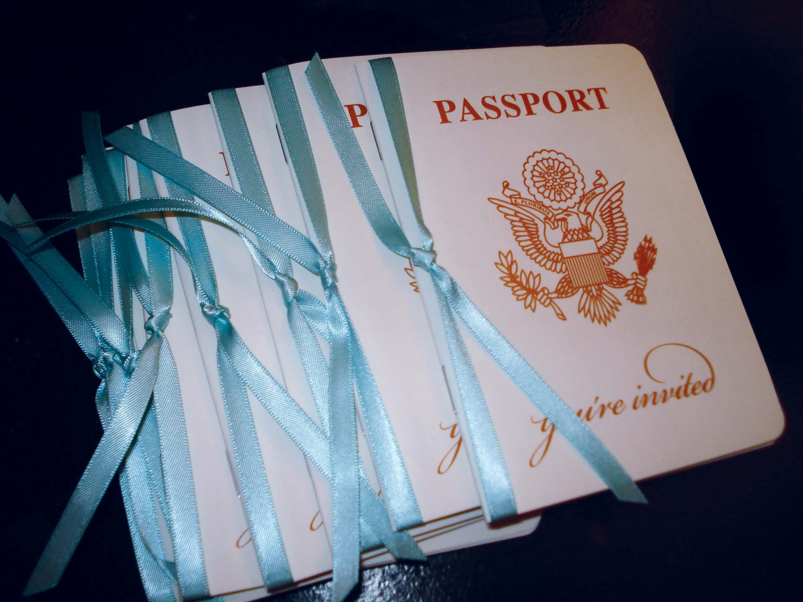 Destination Wedding Invitation Ideas Inspirational Passport Invitation