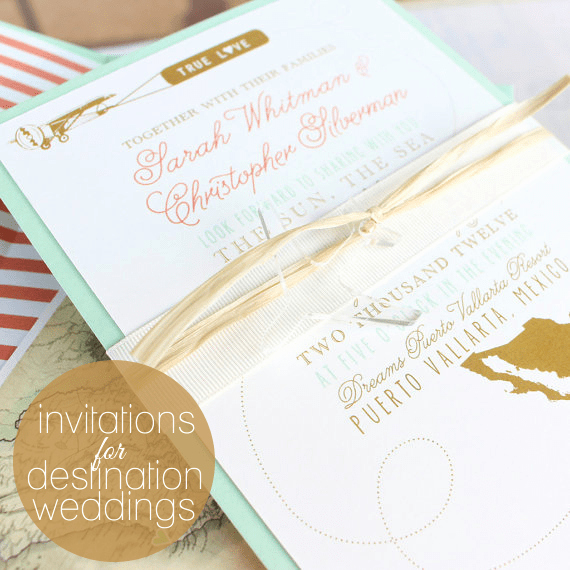 Destination Wedding Invitation Ideas Unique Ideas for Destination Wedding Invitations