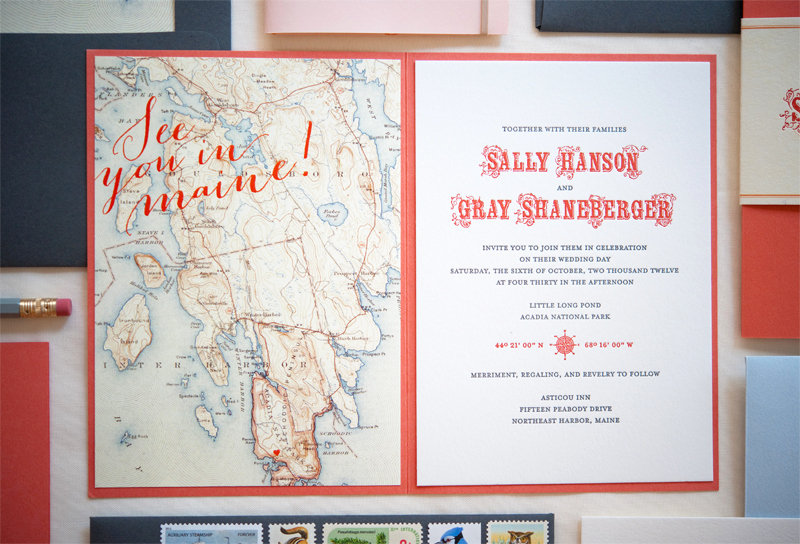 Destination Wedding Invitation Wording Lovely Sally Gray S Maine Map Destination Wedding Invitations