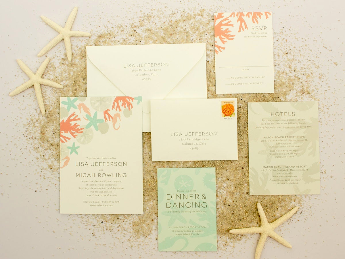 Destination Wedding Invitation Wording New Beach Wedding Invitations Destination Wedding by