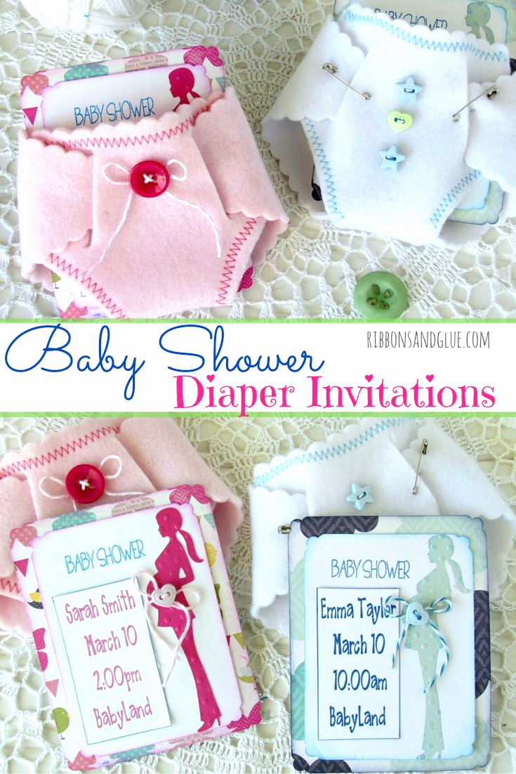 Diaper Baby Shower Invitation Fresh 807 Best Images About Ribbons & Glue Blog On Pinterest