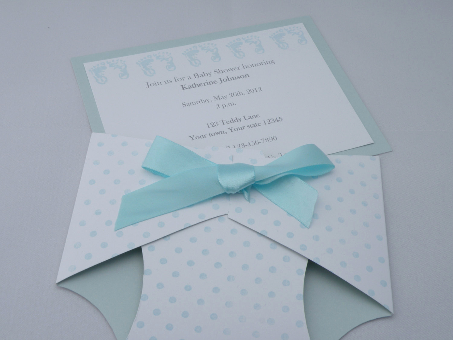 Diaper Baby Shower Invitation Lovely Personalized Diaper Shaped Baby Shower Invitation or Baby