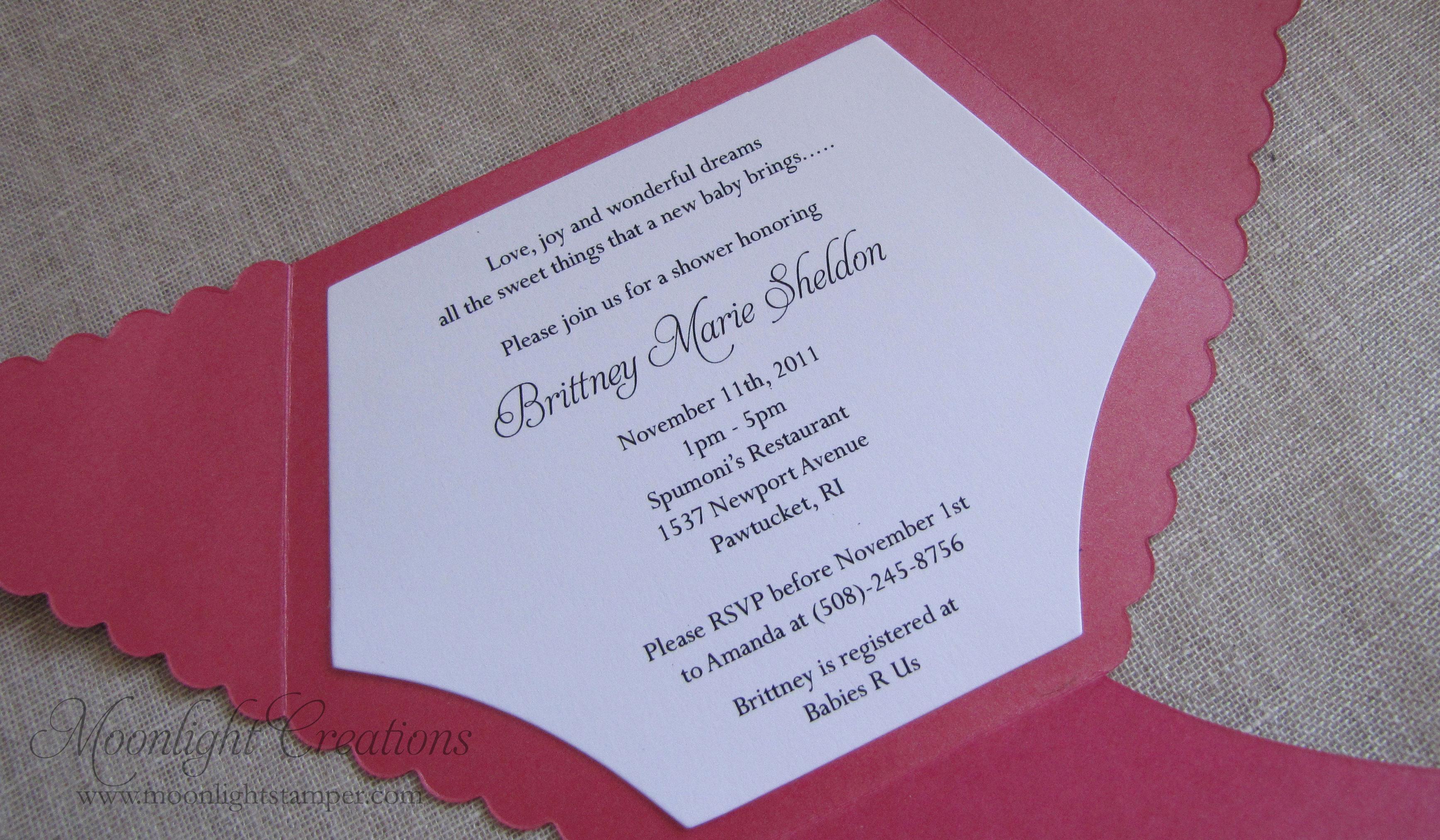 Diaper Baby Shower Invitation Template Elegant Homemade Baby Shower Invitations for Image