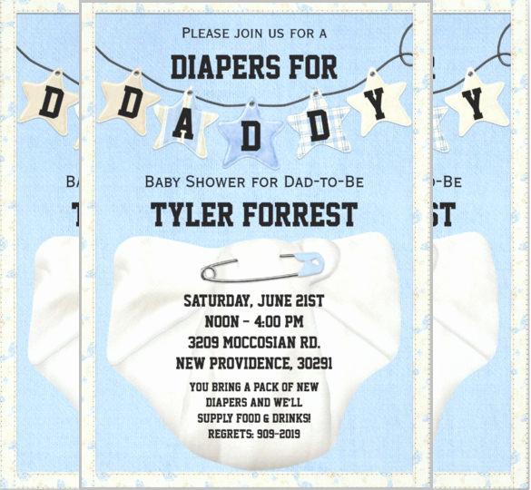Diaper Baby Shower Invitation Template Fresh 35 Diaper Invitation Templates – Psd Vector Eps Ai