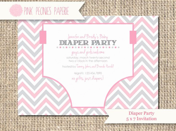 Diaper Baby Shower Invitation Templates Luxury Diaper Shower Invitation Wording
