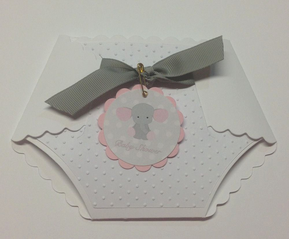 Diaper Invitation Cut Out Awesome White Diaper Die Cut Shape Baby Shower Invitations