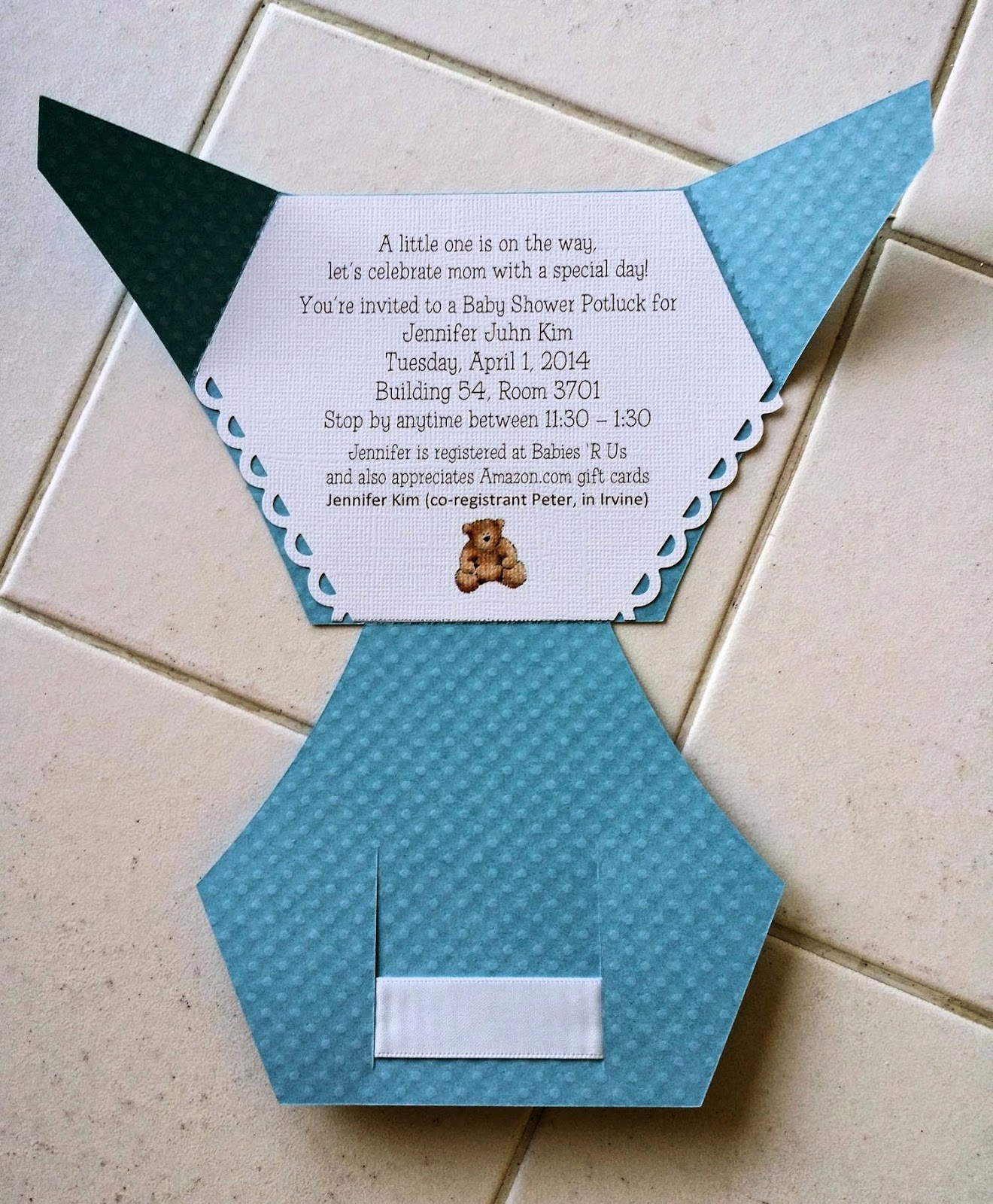 Diaper Invitation Cut Out Beautiful Edible Delectables