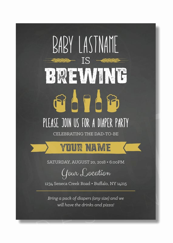 Diaper Invitation Template Free Best Of Diaper Party Invite Baby is Brewing Invite Beer Diaper Party