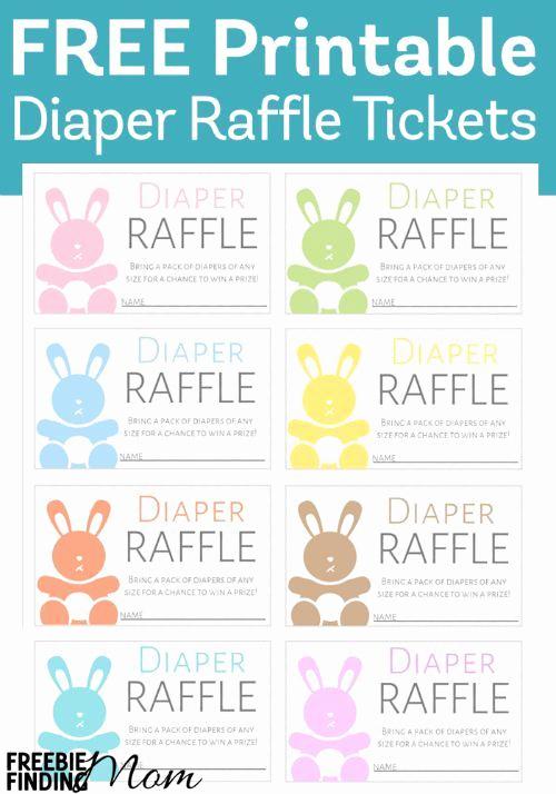 Diaper Invitation Template Printable Elegant Free Printable Diaper Raffle Tickets