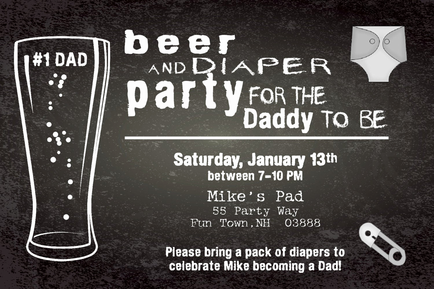 Diaper Party Invitation Template Awesome Beer and Diaper Shower Invitation Boy Man Shower Man Diaper