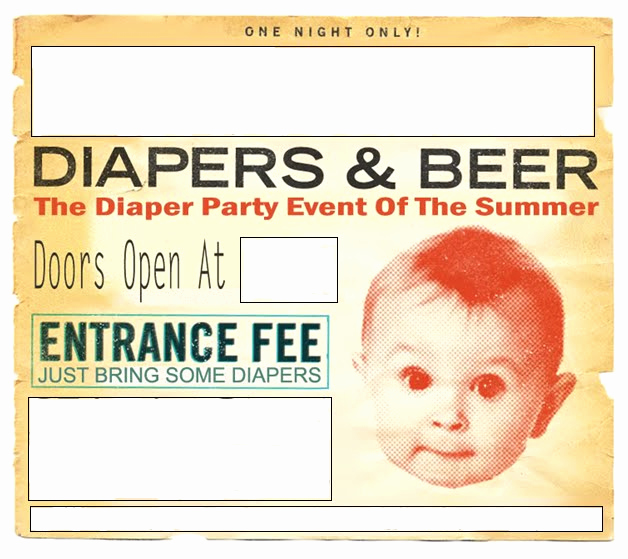 Diaper Party Invitation Template Inspirational Beer and Diaper Party Invites