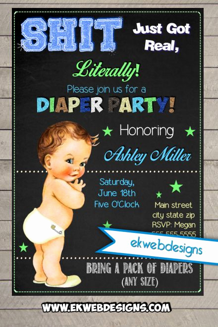 Diaper Party Invitation Template Luxury Diaper Party Invitations Neutral or Its A Boy Baby