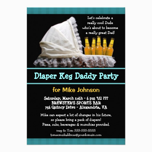 Diaper Party Invitation Templates Free Fresh Custom Diaper Keg Invites Templates