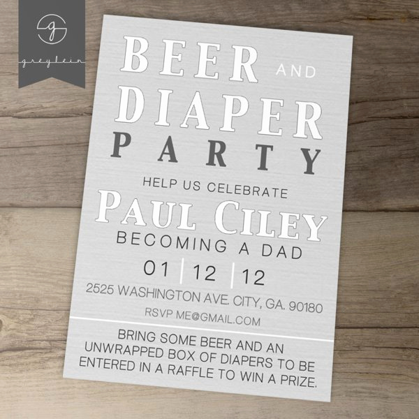 Diaper Party Invitation Templates Free Luxury Diaper Party Invitations Printable