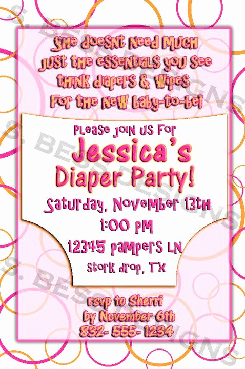 Diaper Party Invitation Templates Fresh Best 25 Diaper Party Invitations Ideas On Pinterest