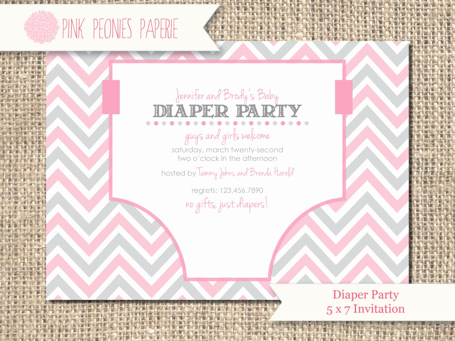 Diaper Party Invitation Templates Lovely Baby Shower Invitation Diaper Party Gender by