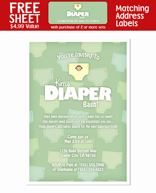 Diaper Party Invitation Templates New 8 Diaper Party Shower Invitations