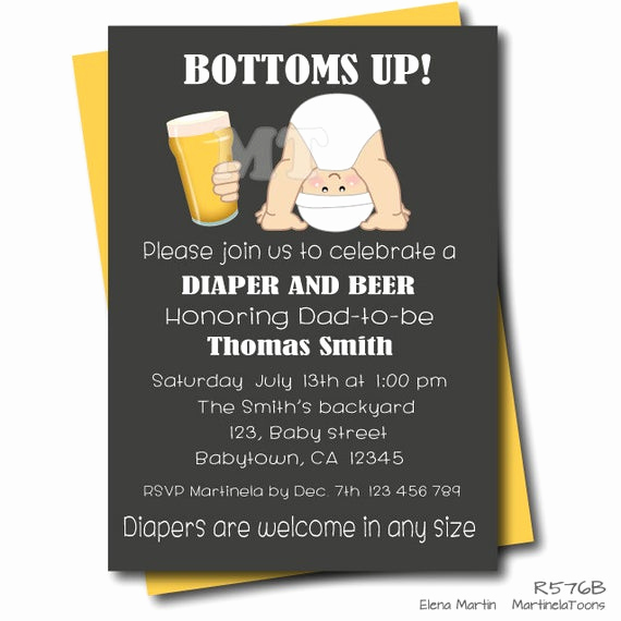 Diaper Party Invitation Wording Lovely Beer and Diaper Baby Shower Invitation Chalkboard Dad Baby