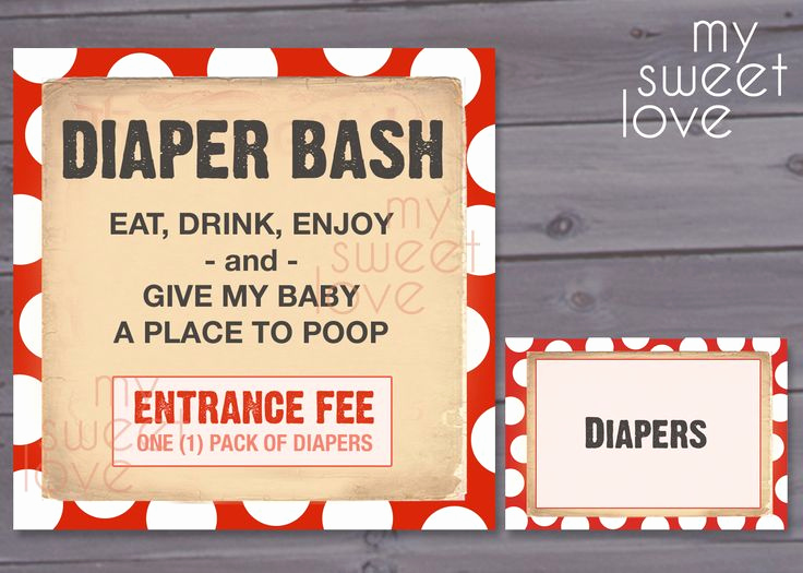 Diaper Party Invitation Wording Lovely Diaper Bash Baby Shower Party Pack Printable
