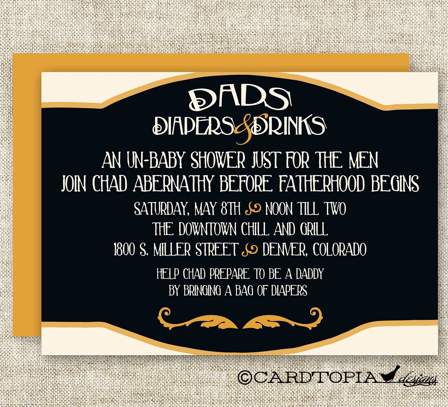 Diaper Party Invitation Wording Lovely Man Diaper Shower Invitations Dad Diaper and Drinks Party