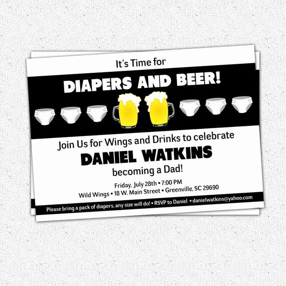 Diaper Party Invitation Wording Luxury Chuggies Beer and Diaper Party Invitation Babies for Men