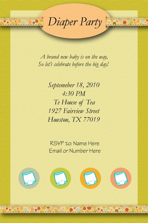 Diaper Party Invitation Wording New 1000 Images About Baby Shower Ideas On Pinterest